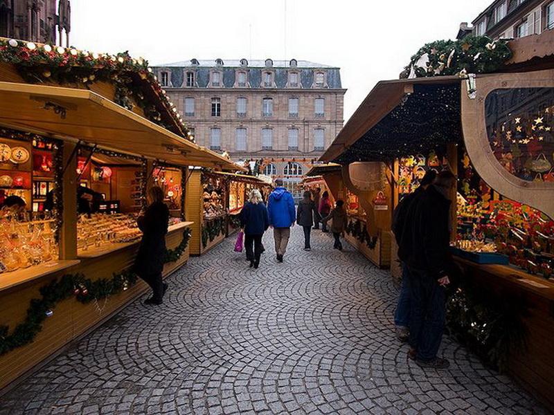 Рождественская ярмарка в Страсбурге, Франция