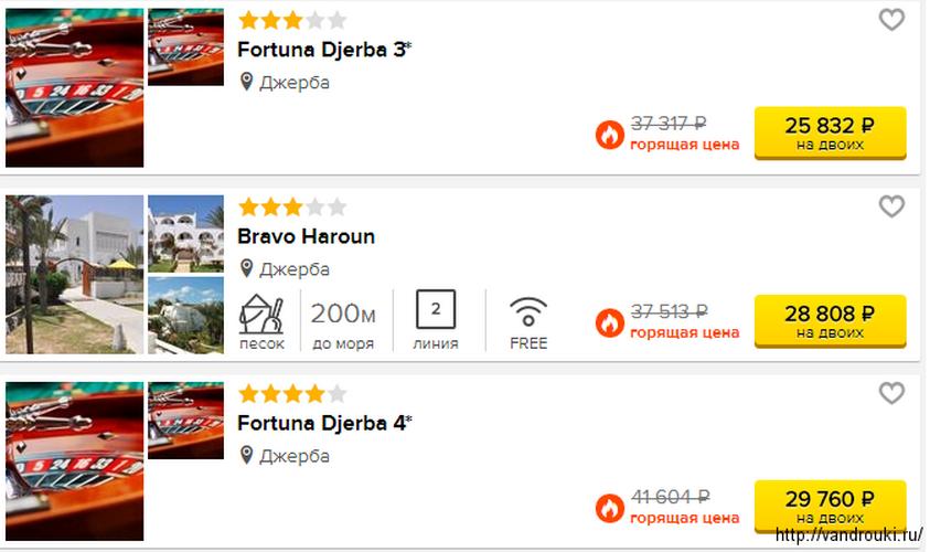 Тунис без виз: ноябрьский тур из Москвы на недельку всего за 12900 рублей с персоны
