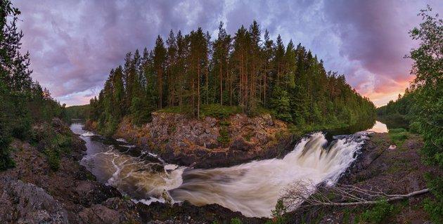 Водопад Кивач. Наталия Федосова